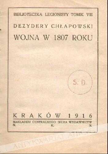 Okładka książki Wojna w 1807