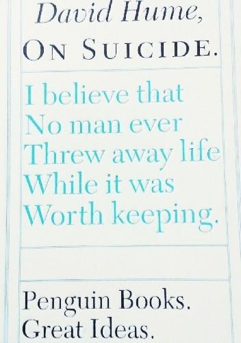 Okładka książki On Suicide