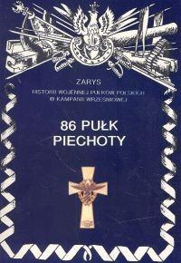 Okładka książki 86 pułk piechoty.