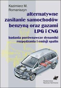Okładka książki Alternatywne zasilanie samochodów benzyną oraz gazami LPG i CNG