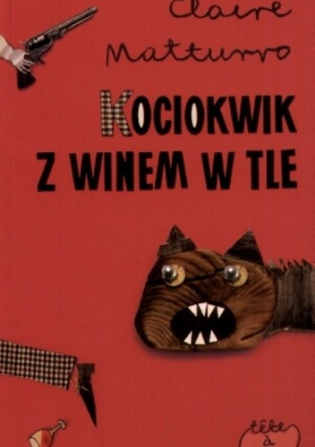 Okładka książki Kociokwik z winem tle