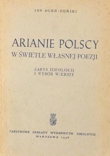 Okładka książki Arianie Polscy W świetle Własnej Poezji