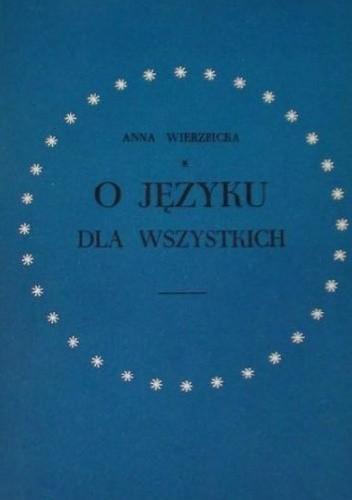 Okładka książki O języku dla wszystkich
