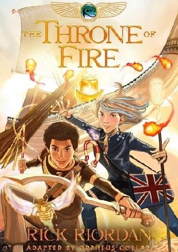 Okładka książki The Throne of Fire: The Graphic Novel