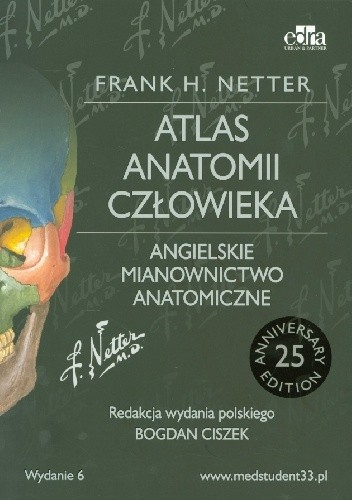 Okładka książki Anatomia Nettera z angielskim mianownictwem anatomicznym