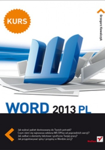 Okładka książki Word 2013 PL. Kurs