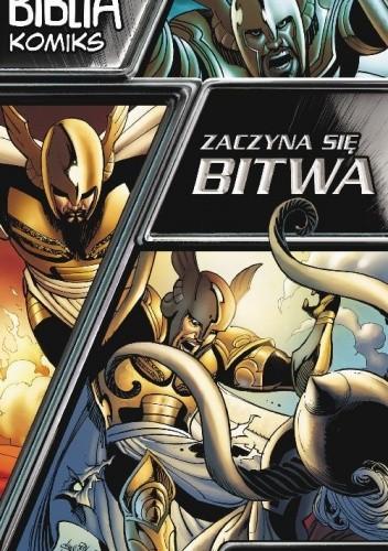 Okładka książki Biblia komiks. Zaczyna się bitwa. Historia stworzenia