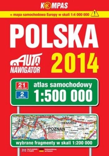 Okładka książki Polska. Atlas samochodowy. 1:500 000 Kompas