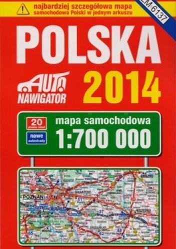 Okładka książki Polska 2014. Mapa samochodowa. 1:700000 Kompas