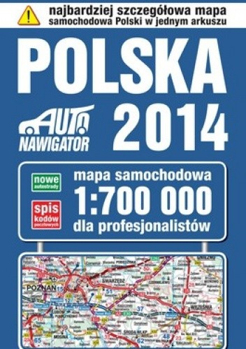 Okładka książki Polska 2014. Mapa samochodowa. 1:700 000 KOMPAS