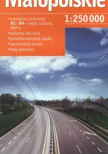 Okładka książki Małopolskie. Mapa samochodowa. 1:250000. Demart
