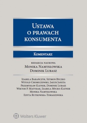 Okładka książki Ustawa o prawach konsumenta. Komentarz