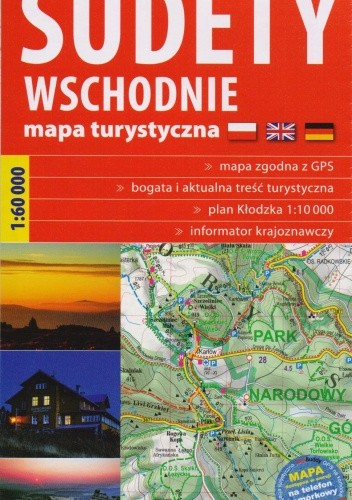 Okładka książki Sudety Wschodnie. Mapa turystyczna 1:60000