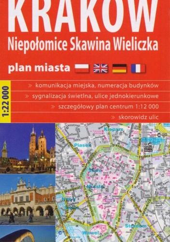 Okładka książki Kraków, Niepołomice, Skawina, Wieliczka. Plan miasta 1:22000