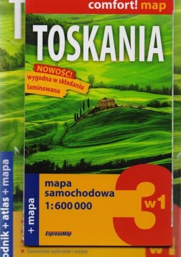 Okładka książki Toskania 3w1. Przewodnik + atlas + mapa. Explore! guide