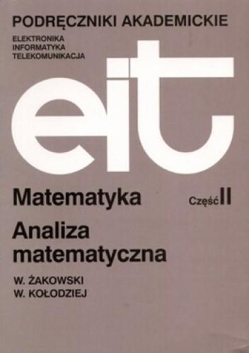 Okładka książki Matematyka część 2 Analiza matematyczna