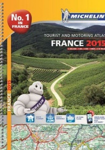 Okładka książki France 2015. Tourist and Motoring Atlas