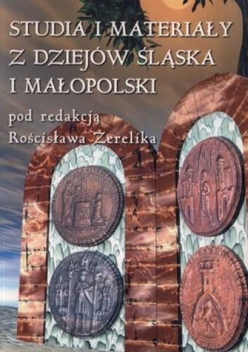Okładka książki Studia i materiały z dziejów Śląska i Małopolski