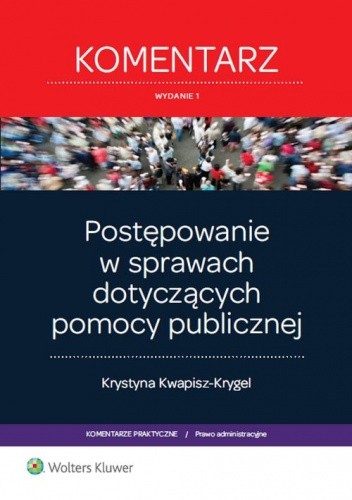 Okładka książki Postępowanie w sprawach dotyczących pomocy publicznej