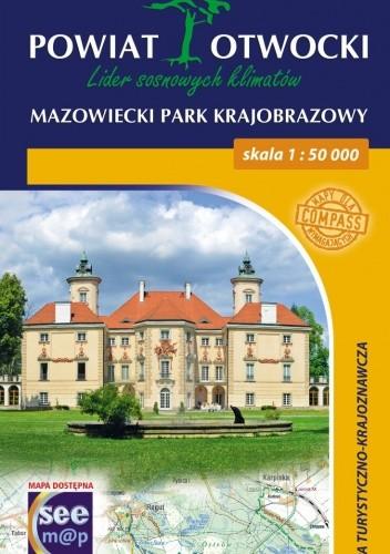 Okładka książki Powiat otwocki. Mazowiecki park krajobrazowy. Mapa turystyczno-krajoznawcza. 1:50000. Compass