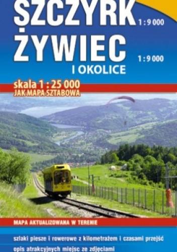 Okładka książki Szczyrk, Żywiec i okolice. Mapa turystyczna. 1:25 000 Studio Plan