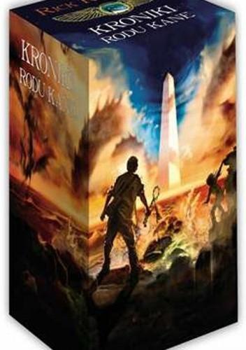 Okładka książki Kroniki rodu Kane. Czerwona piramida + Ognisty tron + Cień węża (komplet)