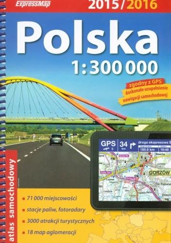 Okładka książki Polska. Atlas samochodowy. 1 : 300 000. ExpressMap