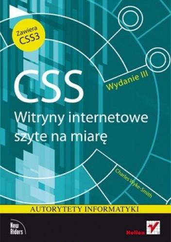 Okładka książki CSS. Witryny internetowe szyte na miarę. Autorytety informatyki