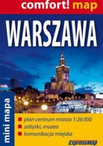 Okładka książki Mapa Warszawy. Skala 1:26000