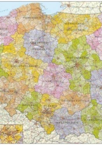 Okładka książki Polska mapa administracyjno-samochodowa