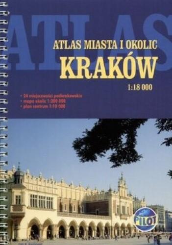Okładka książki Kraków. Atlas miasta i okolic
