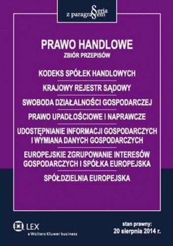 Okładka książki Prawo handlowe. Zbiór przepisów