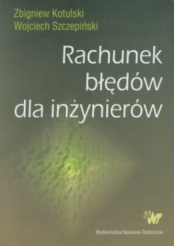 Okładka książki Rachunek błędów dla inżynierów
