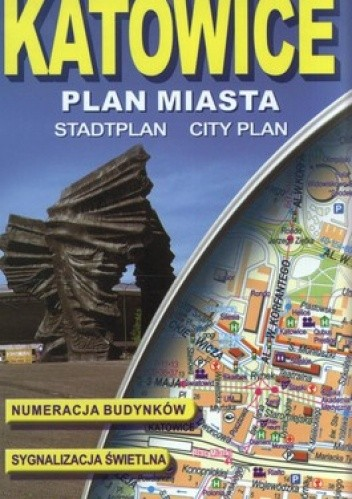 Okładka książki Katowice 1:20 000 , plan miasta laminowany