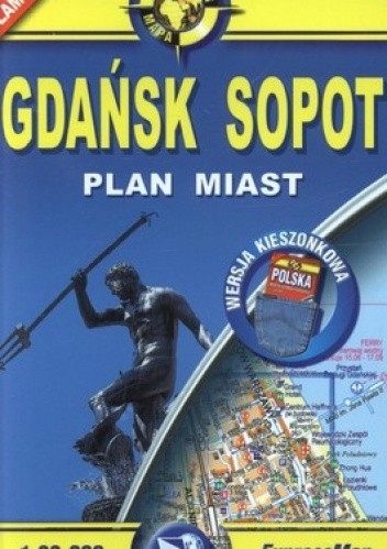 Okładka książki Gdańsk. Sopot. Plan miasta. laminowana. 1:26000, ExoressMap