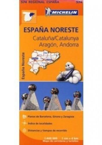 Okładka książki Aragon, Cataluna. Mapa samochodowa. 1:400 000 Michelin