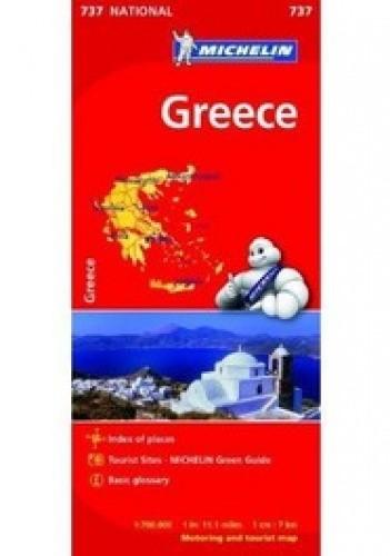 Okładka książki Greece. Mapa samochodowa. 1:700000 Michelin