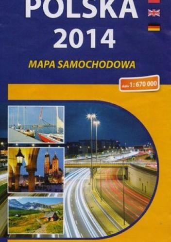 Okładka książki Polska 2014. Mapa samochodowa. 1:670 000 Compass