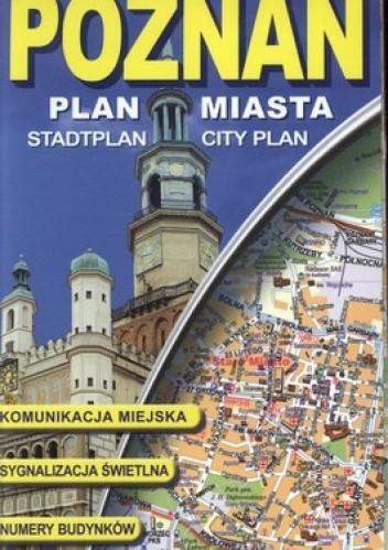 Okładka książki Poznań 1:22 000, plan miasta laminowany