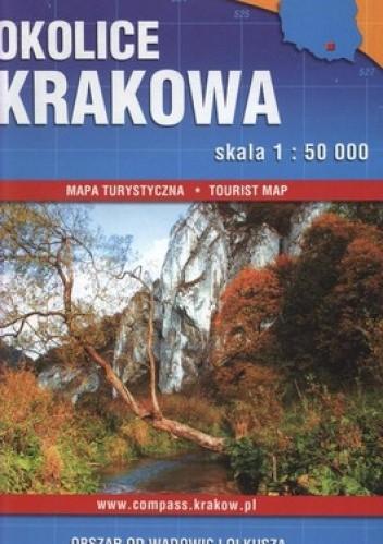 Okładka książki Okolice Krakowa mapa turystyczna