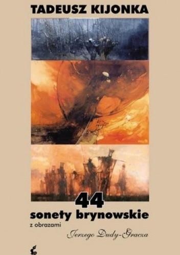 Okładka książki 44 sonety brynowskie z obrazami Jerzego Dudy - Gracza