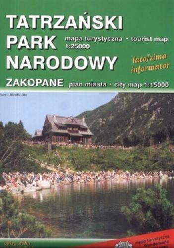 Okładka książki Tatrzański Park Narodowy. Mapa turystyczna. 1:25 000 Karta