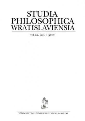 Okładka książki Studia Philosophica Wratislaviensia. Vol. 9. fasc.1 (2014)