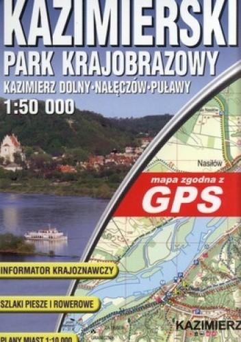Okładka książki Kazimierski Park Krajobrazowy. Mapa turystyczna. Laminowana. GPS. 1:50 000 ExpressMap