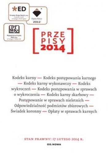 Okładka książki Przepisy 2014. Zbiór karny