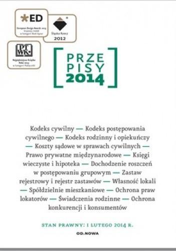Okładka książki Przepisy 2014. Zbiór cywilny