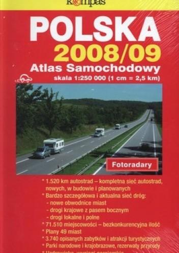 Okładka książki Polska 2008/2009 Atlas samochodowy