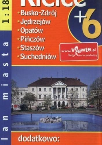 Okładka książki Kielce plus 6. Plan miasta. 1:18 000 Demart