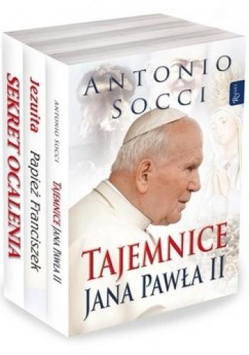 Okładka książki Tajemnice Jana Pawła II + Sekret ocalenia + Jezuita Papież Franciszek (komplet)