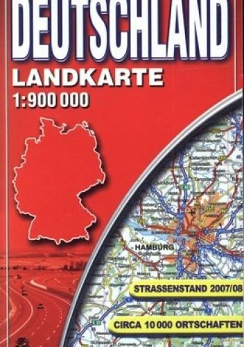 Okładka książki Deutschland. Mapa samochodowa. Laminowana. 1:900000 ExpressMap